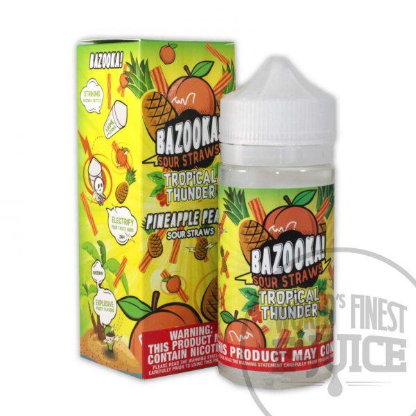 Bazooka Tropical Thunder E-Juice - Pineapple Peach Sour Straws