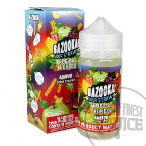 Bazooka Tropical Thunder E-Juice - Rainbow Sour Straws