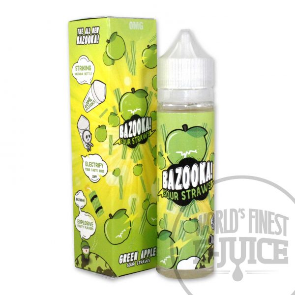 Bazooka E-Juice - Green Apple Sour Straws